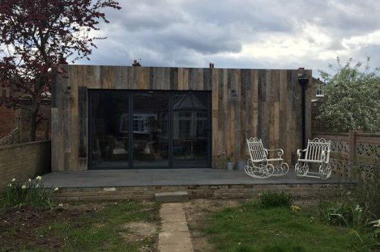 restaurant dans un jardin