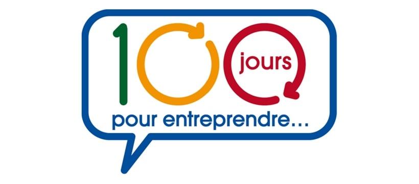 Logo du concours 100 jours pour entreprendre