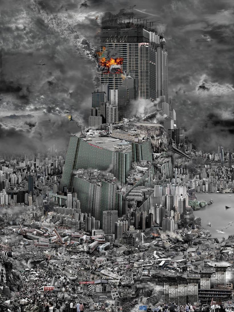 grande ville détruite