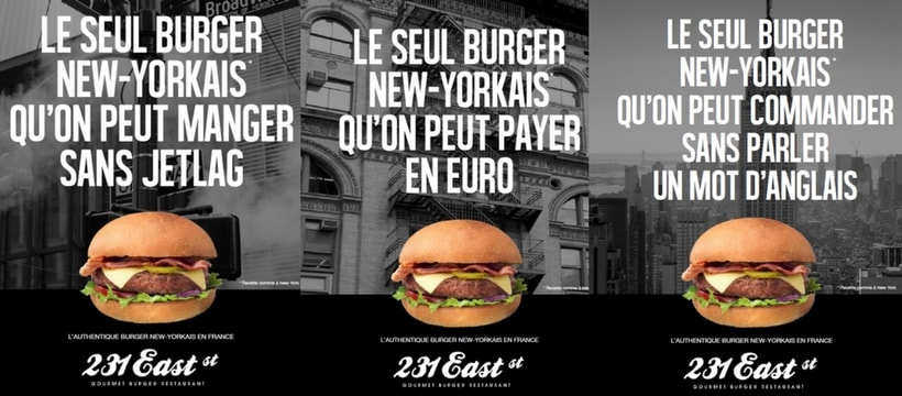 affiches des burgers east street