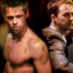 Brad Pitt torse nu dans fight club