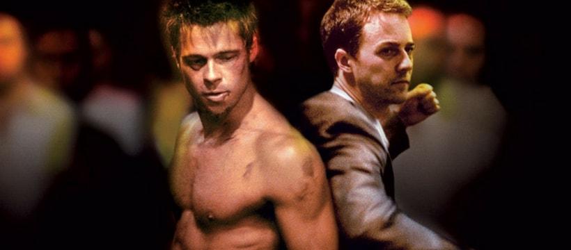 Brad Pitt torse nu dans fight club