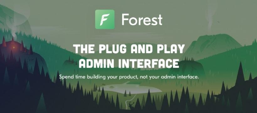accueille de Forest Admin