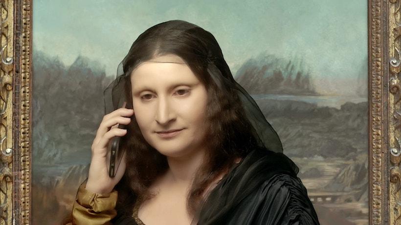 la Joconde au téléphone