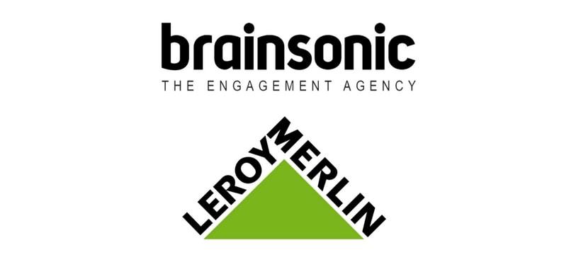 Logos de brainsonic et de leroy merlin