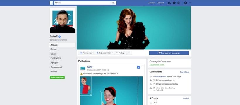 page facebook de la maaf