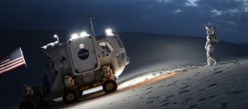astronaute de la nasa sur la lune
