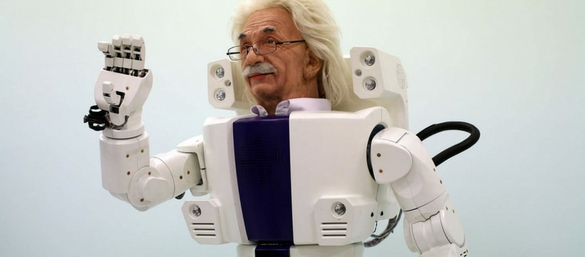 Un robot Einstein par Hanson Robotics