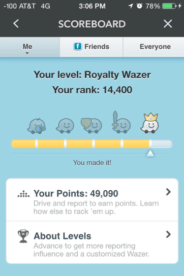 Screenshot de waze