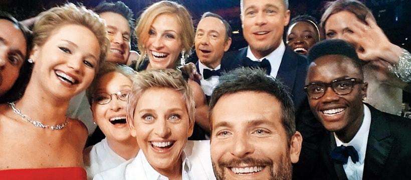 brad pitt, ellen degeneres, bradley cooper et dautres acteurs americains prennent un selfie aux oscars