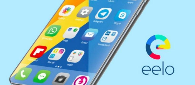 un visuel du smartphone sous OS Eelo