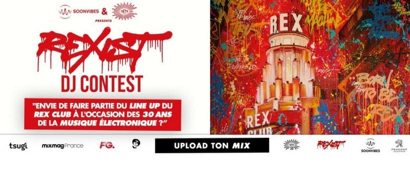affiche de la soiree du rex pour les trente ans de lelectro