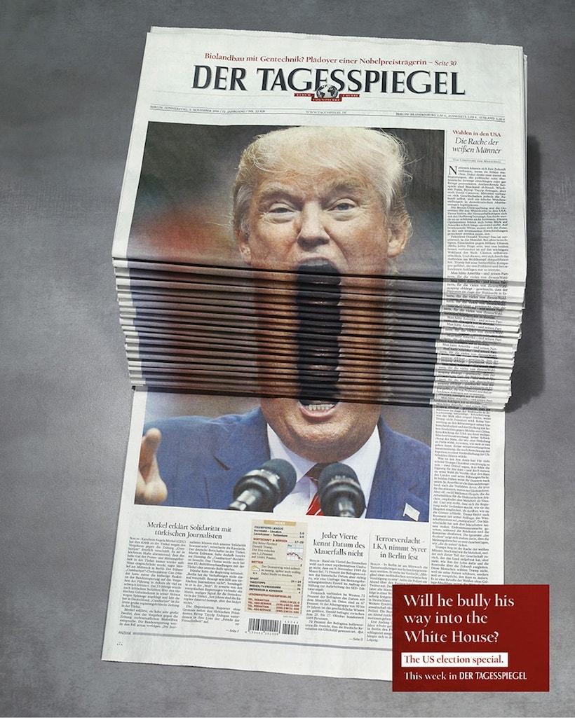 Der Tagesspiegel couverture Donald Trump