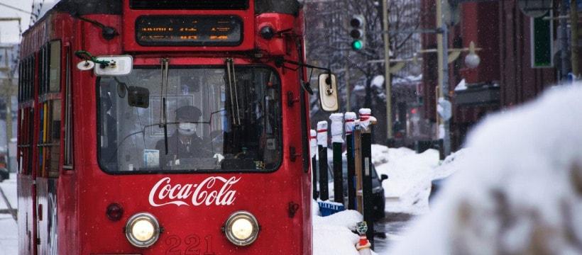 tramway sponsorise par coca cola