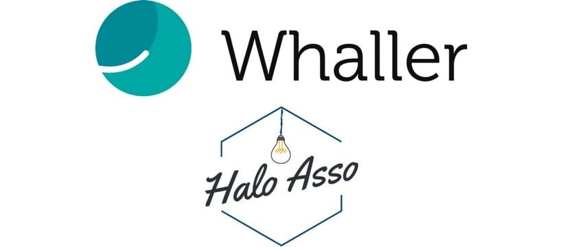 Logos de Whaller et Halo Asso