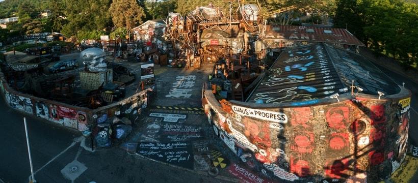 photo panoramique de la demeure du chaos
