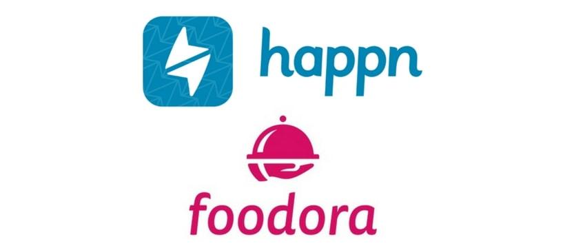 Logos happn foodora