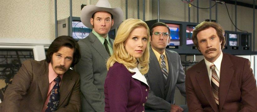 photo des personnages principaux du film anchorman