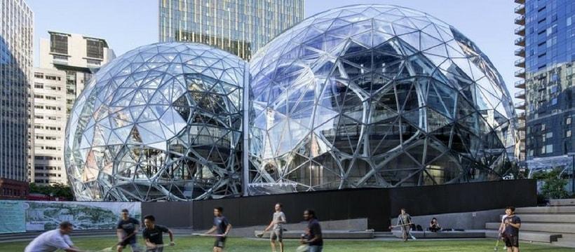 le qg d'Amazon à Seattle