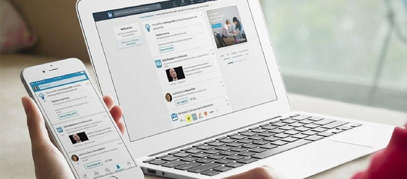 L'application LinkedIn sur ordinateur et portable