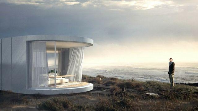 maison mobile dans la nature