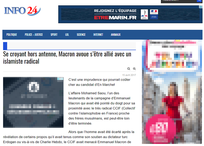 Capture d'écran fake news info24
