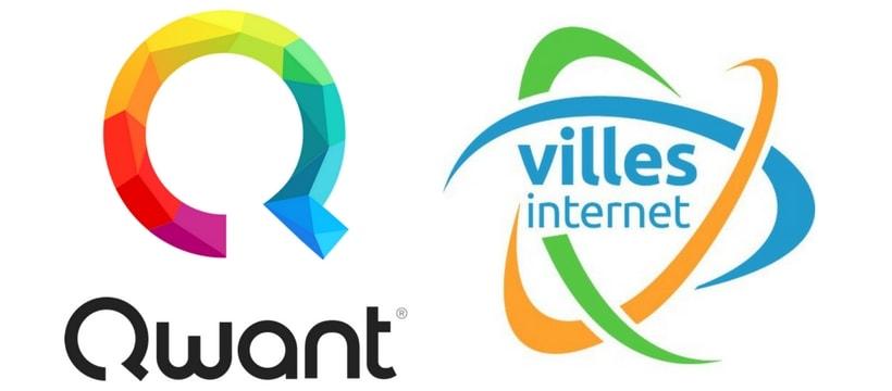 Logos Qwant ville internet