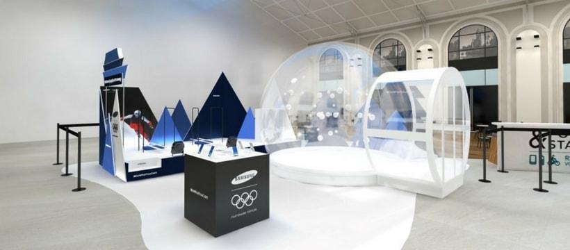 La station de ski Samsung à la Gare Saint Lazare