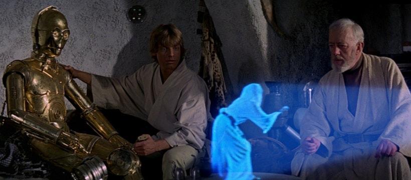 star wars hologramme