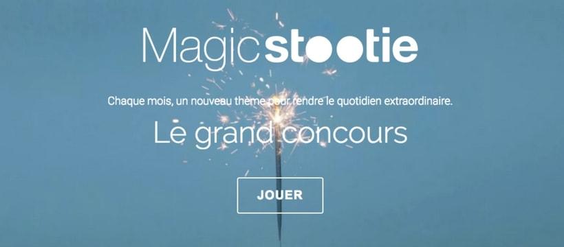 Homepage du site stootie
