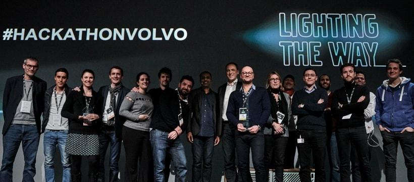 remise des prix hackathon volvo
