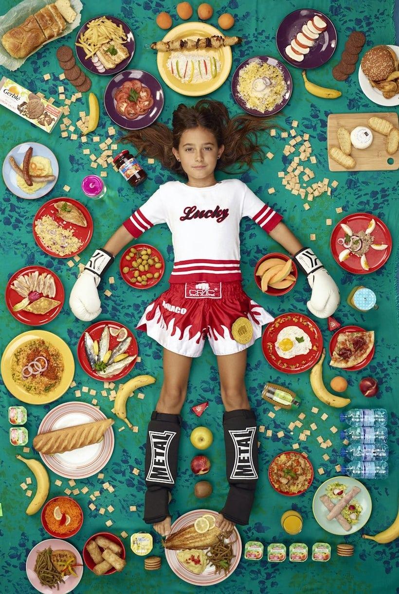 photo d'enfants et de nourriture