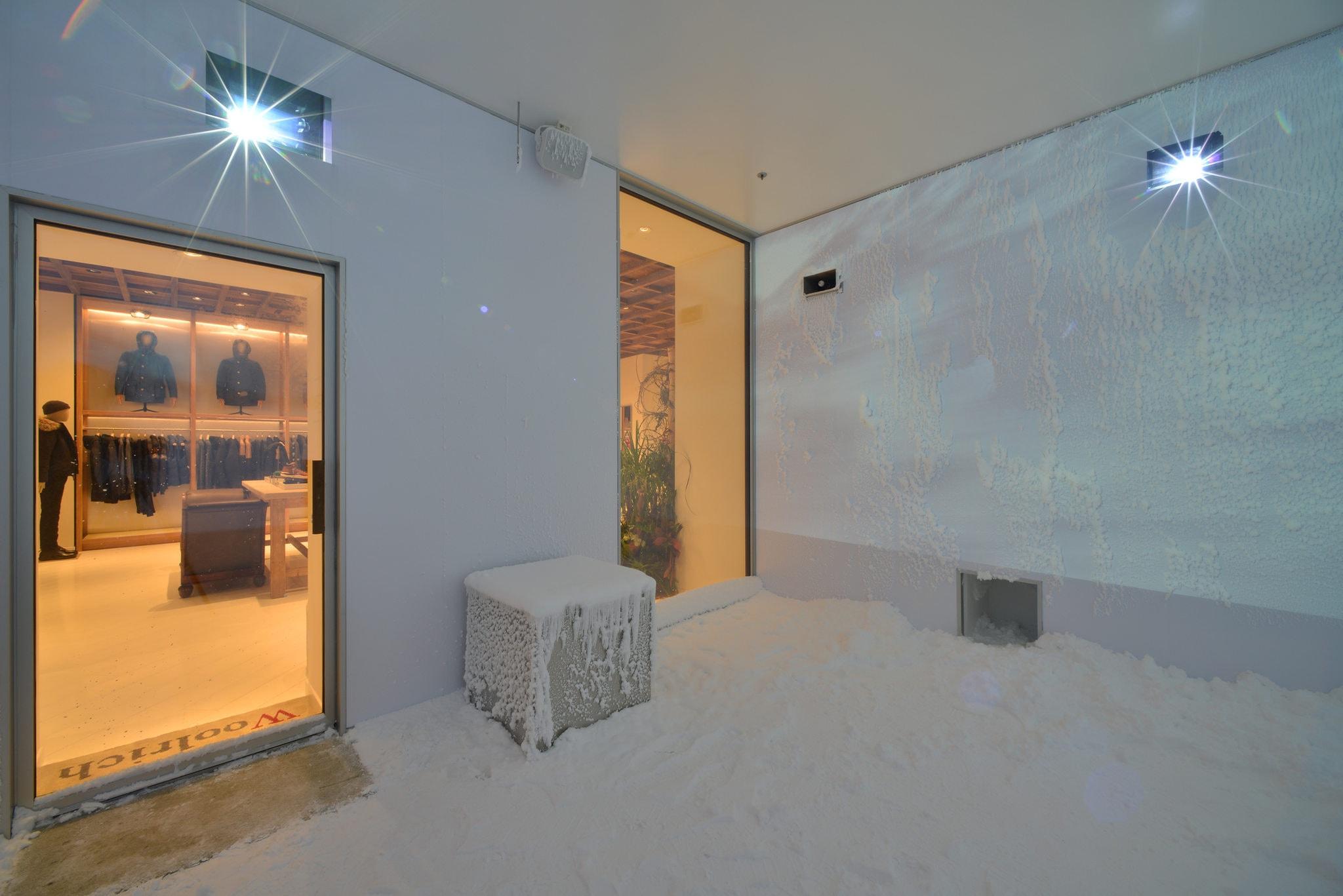 chambre froide dans un magasin de vêtements