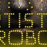 affiche exposition artistes et robots