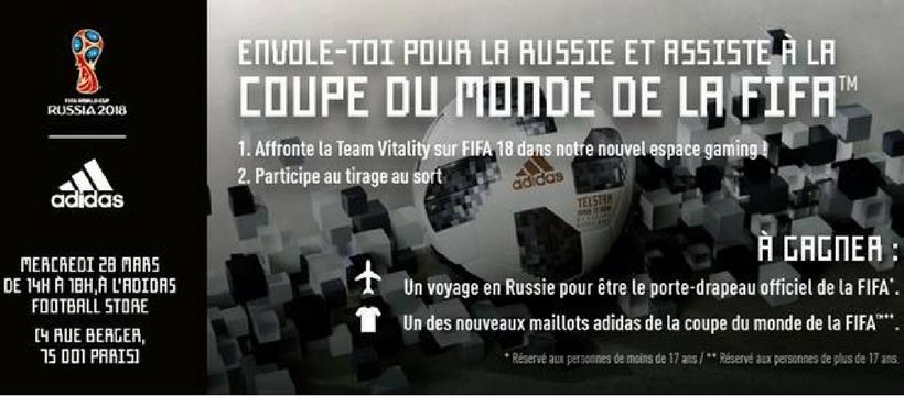 jeu-concours adidas pour la coupe du monde de football