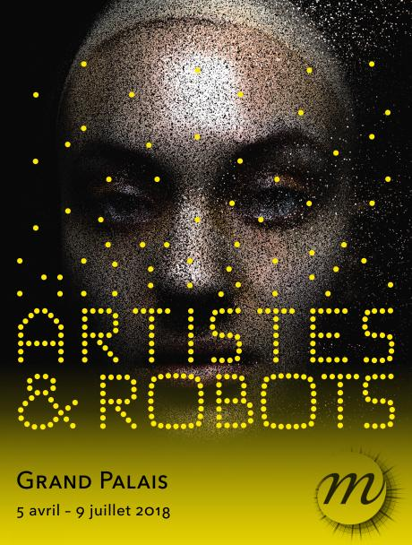 affiche de l'expo artistes et robots