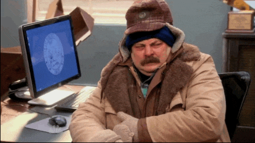 Ron Swanson cold
