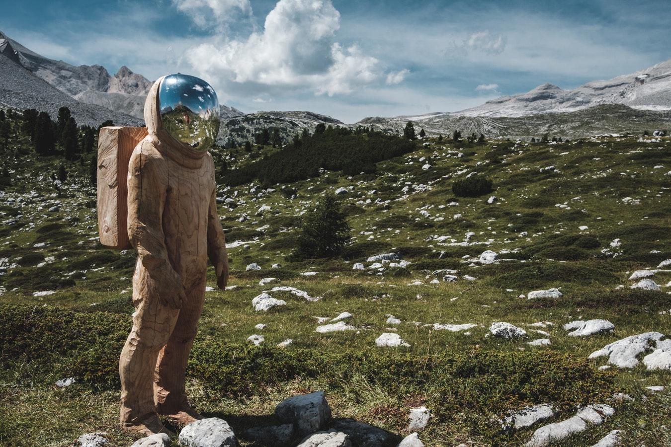 astronaute sur terre