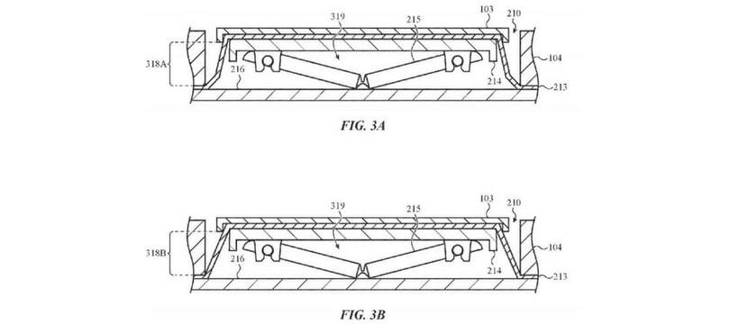 dessin d'un brevet clavier Apple