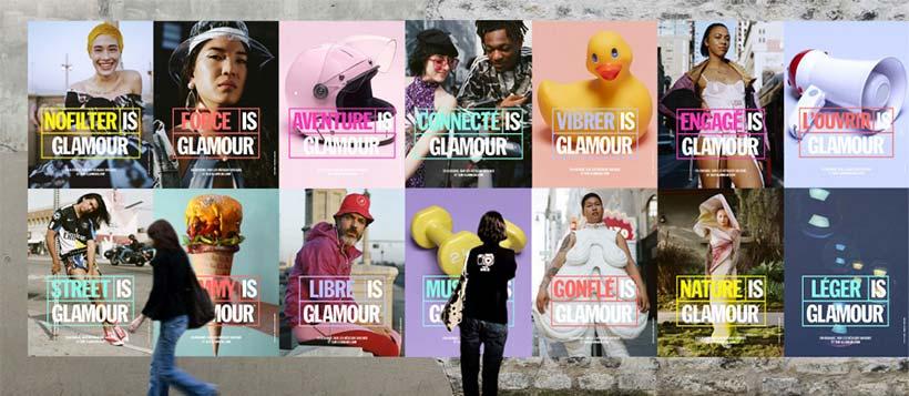 campagne affichage nouveau glamour