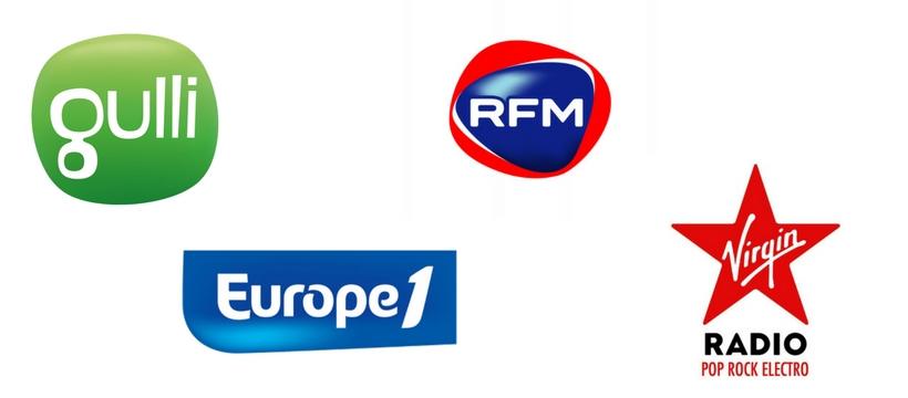 logos Gulli Europe 1 RFM et Virgin radio