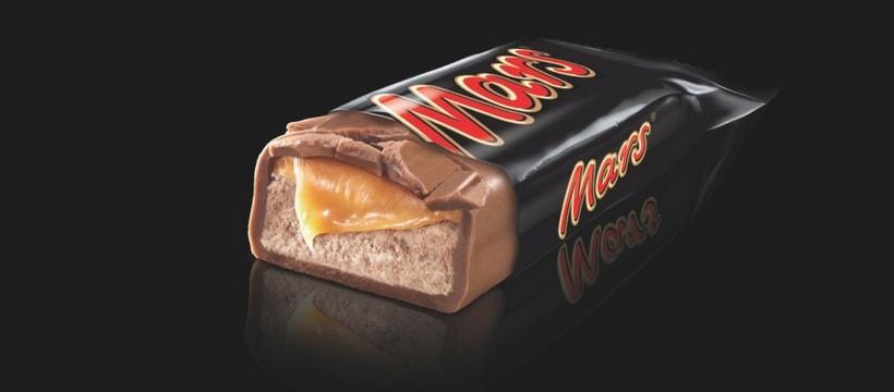 Une barre chocolatée Mars