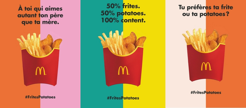 frites-potatoes de McDonald's