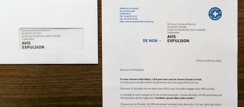 lettre de non-expulsion de médecins du monde