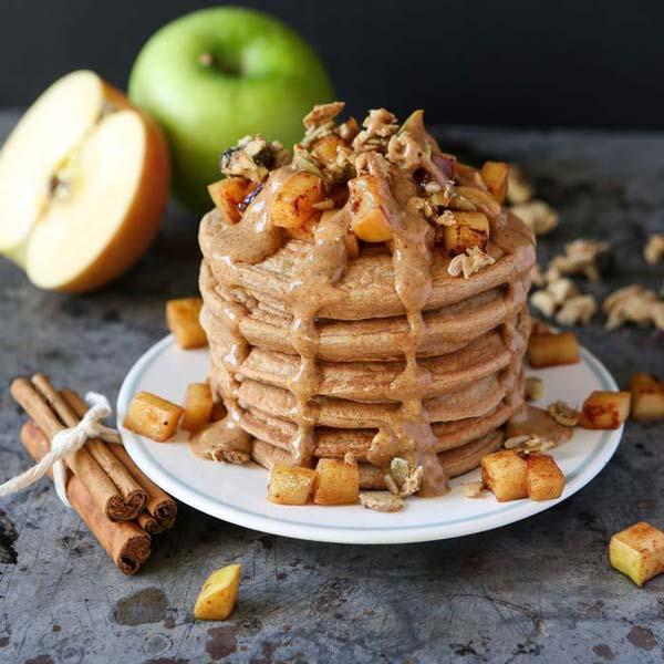 pancakes cannelle pommes
