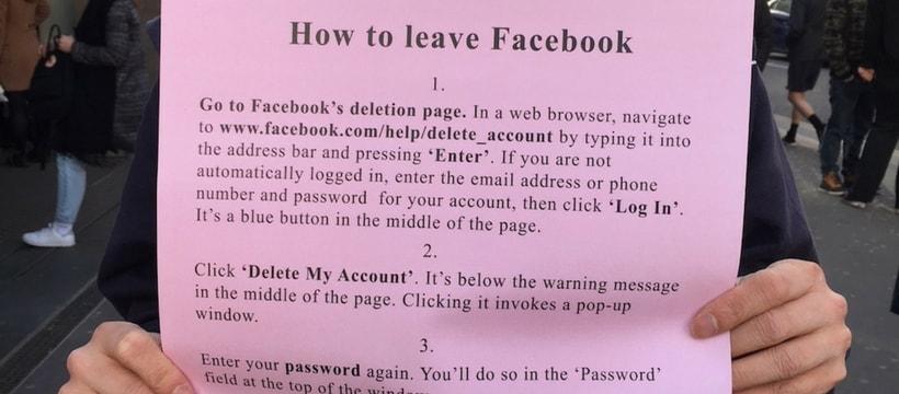 quitter facebook