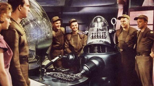 une affiche rétro pour un film de science fiction