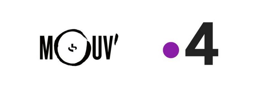 Logos Le Mouv et france 4