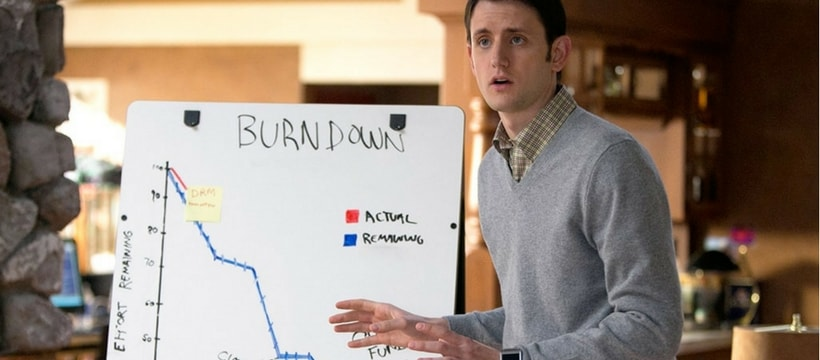 Jared avec un graphique dans un épisode de Silicon Valley