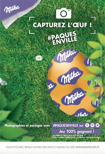 affiche milka pâques 2018